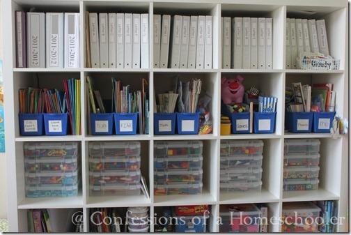 Homeschool Classroom Decor ~ Homeschool supplies organization confessions of a